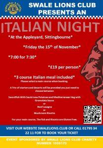 Italian Night @ The Appleyard