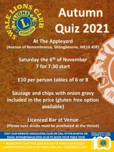 Autumn  Quiz 2021 @ The Appleyard